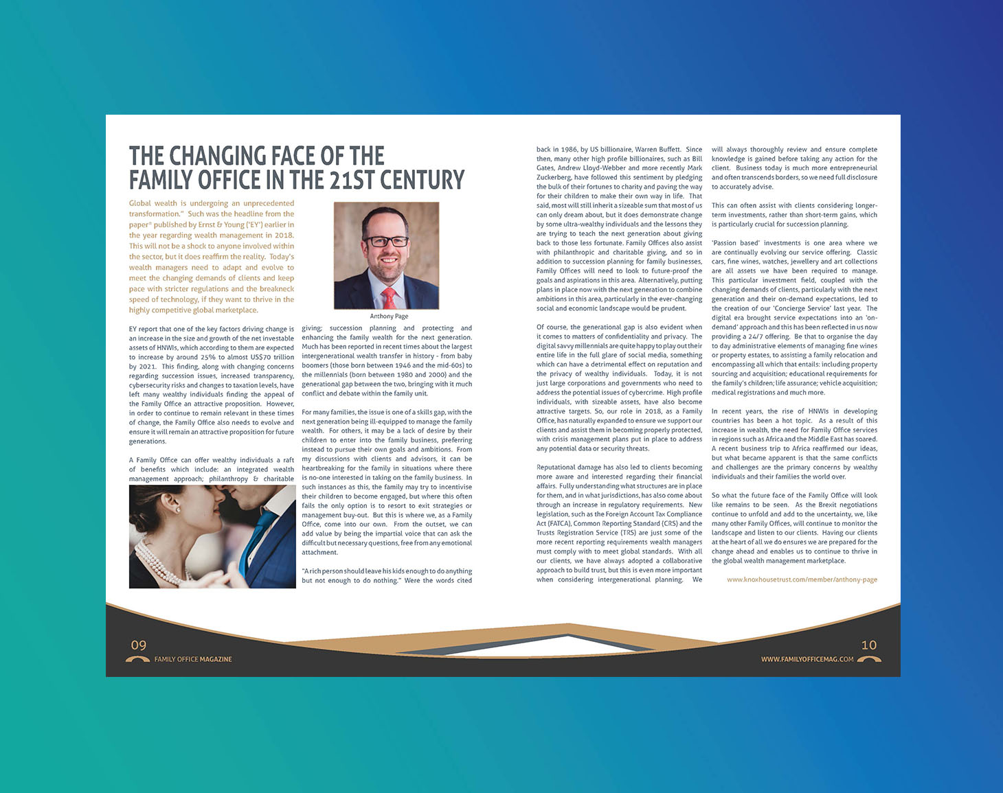 The Changing Face of the Family Office in the 21st Century article by Anthony Page