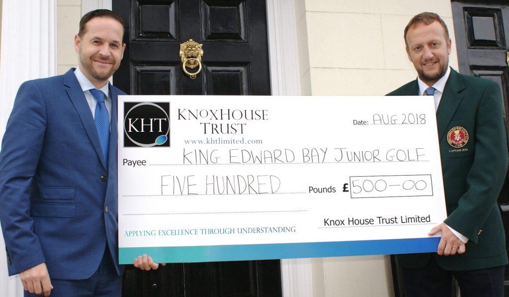 KHT Renews sponsorship support for King Edward Bay Golf Club's Junior Section